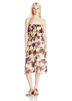 Volcom Junior's Canyon Call Floral Print Strapless Dress  L