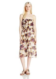 Volcom Junior's Canyon Call Floral Print Strapless Dress  S