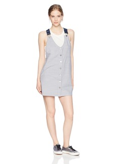 Volcom Junior's Cham  Overall Mini Dress