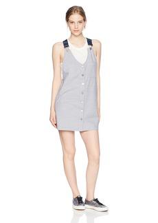 Volcom Junior's Cham Overall Mini Dress  XS