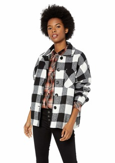 Volcom Junior's Check U L8R Boxy Shirt Jacket