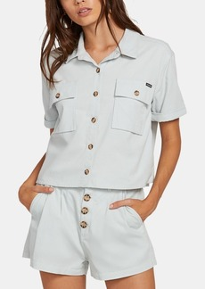 Volcom Juniors' Cotton Cropped Shirt