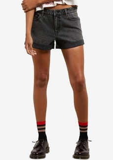 Volcom Juniors' Cotton Cuffed Denim Shorts