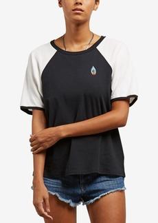 Volcom Juniors' Cotton Graphic-Print Ringer T-Shirt