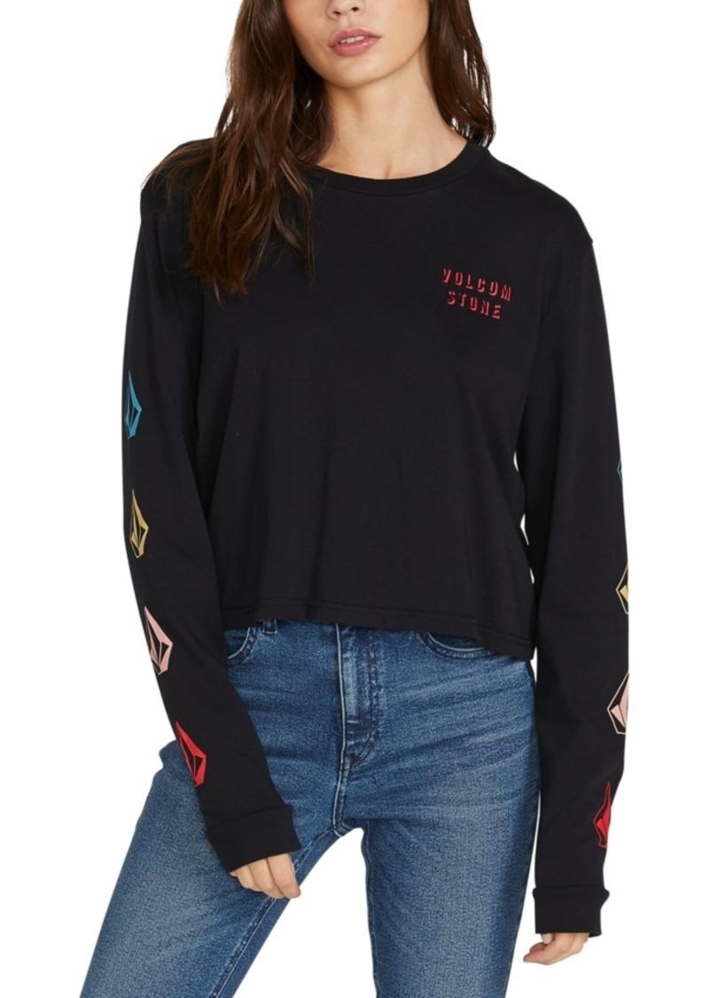 Volcom Juniors' Cotton Long-Sleeve T-Shirt