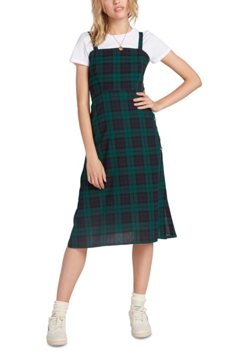 Volcom Juniors' Cotton Plaid A-Line Dress