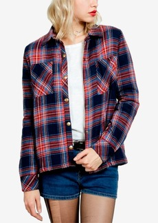 Volcom Juniors' Cotton Plaid Jacket