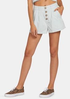 Volcom Juniors' Cotton Pleated Shorts