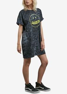 Volcom Juniors' Cotton Screen-Print T-Shirt Dress