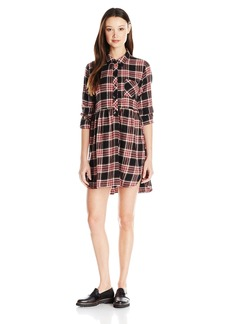 Volcom Juniors Cozy Day Flannel Plaid Dress