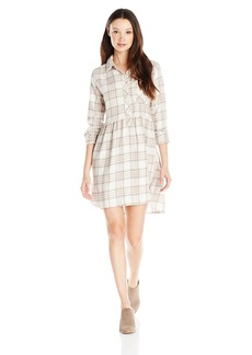 Volcom Juniors Cozy Day Flannel Plaid Dress