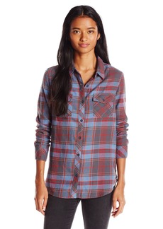 Volcom Juniors Cozy Day Long Sleeve Flannel Plaid Shirt  X-Small