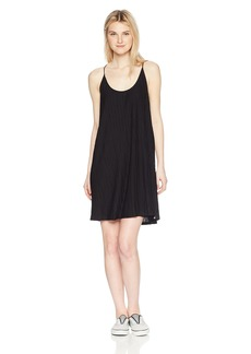 Volcom Junior's Cross Check Strappy Tank Dress  L