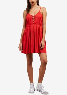 Volcom Juniors' Cross Paths Lace-Up Dress