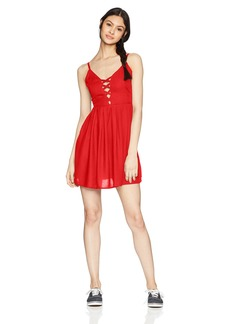 Volcom Junior's Cross Paths Woven Dress  L