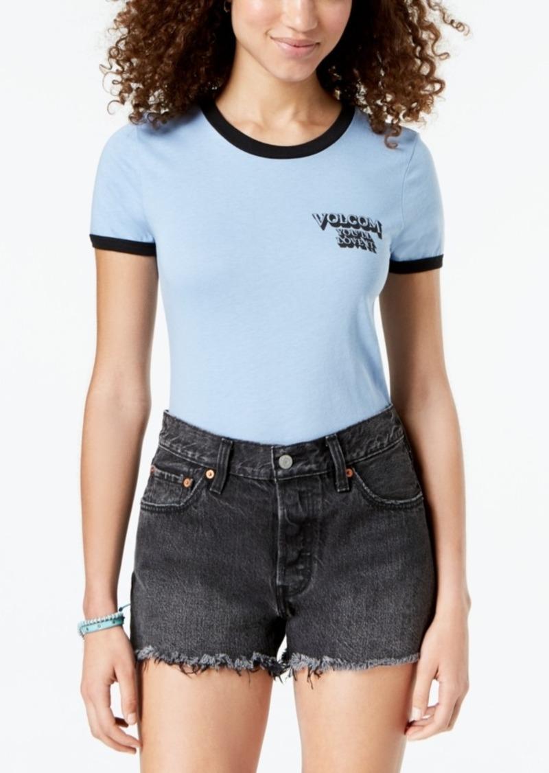 Volcom Juniors' Crossing Paths Ringer T-Shirt