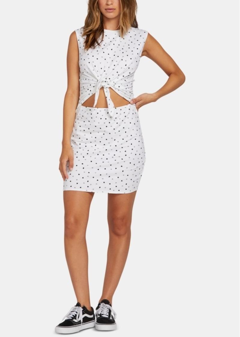 Volcom Juniors' Cutout Tie-Front Dress