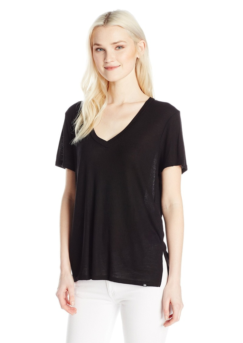 Volcom Junior's Dish It Out Loose Fitting V-Neck Tee  L