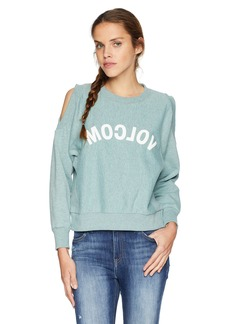 Volcom Junior's Edit N Crop Crew Neck Sweatshirt  S