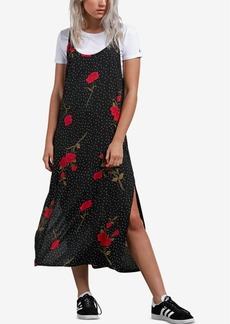 Volcom Juniors' End of the Rose Printed Slip Dress