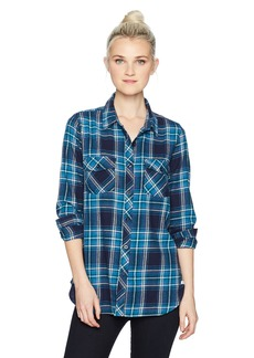 Volcom Junior's Fly High L/s Plaid Top  S