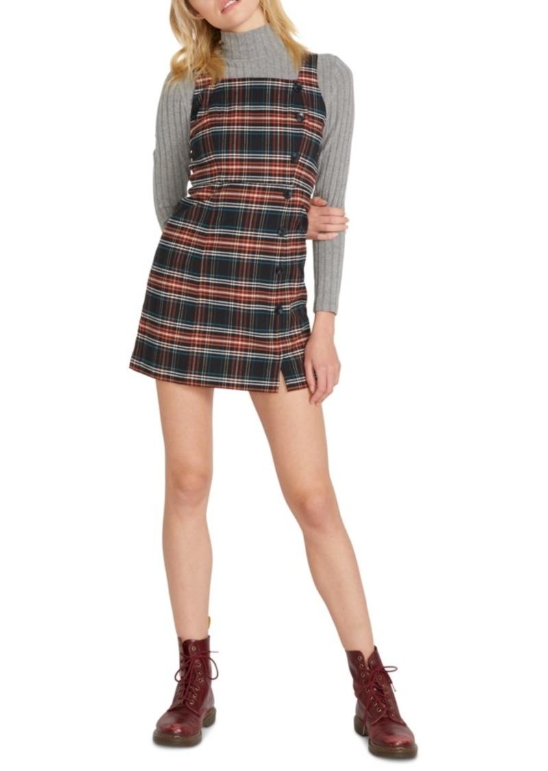 Volcom Juniors' Frochickie Plaid Mini Dress