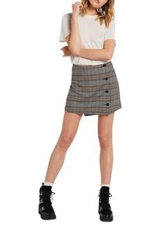 Volcom Juniors' Frochickie Wrap-Front Mini Skirt