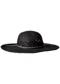 Volcom Junior's Get Away Woven Straw Floppy Hat
