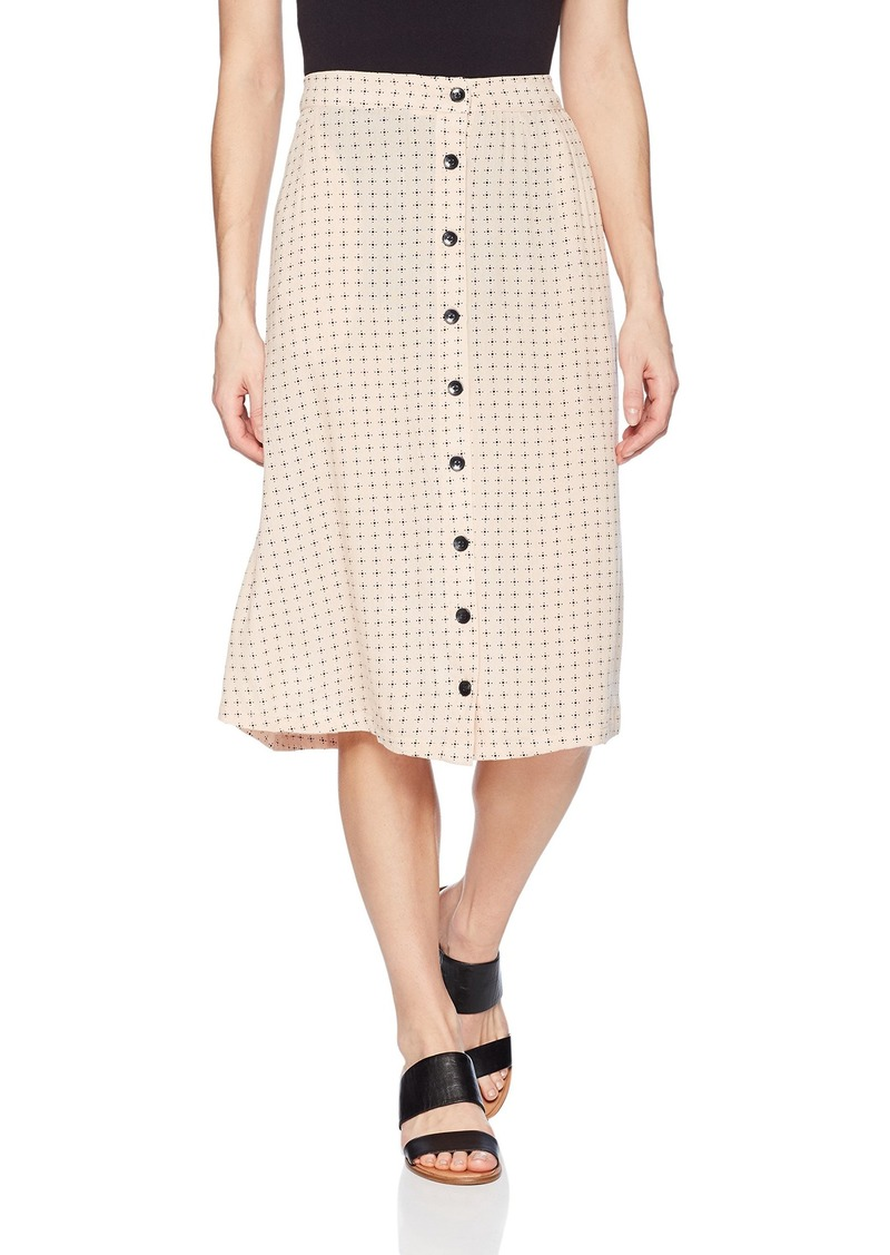 Volcom Junior's Get to Steppin idi Length Front Button Skirt ushroom