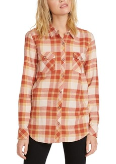 Volcom Juniors' Getting Rad Plaid Cotton Button-Up Shirt