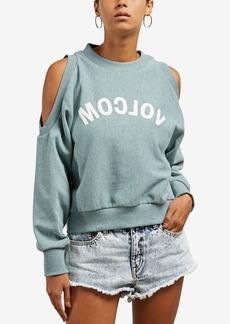 Volcom Juniors' Graphic Cold-Shoulder Sweatshirt