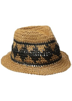 Volcom Junior's Ibiza Straw Fedora Hat