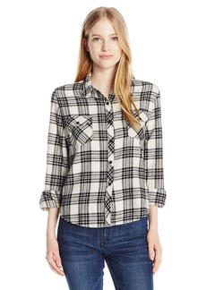 Volcom Junior's Kindling Yarn Dyed Vintage Style Flannel Shirt  L