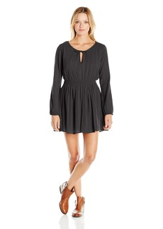 Volcom Juniors Lady Gauza Long sleeve Dress
