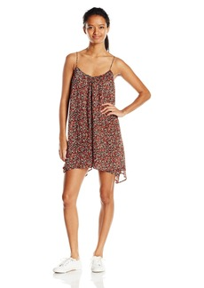Volcom Junior's Laying Low Printed Slip Dress