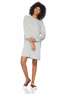Volcom Junior's Lil 3/4 Sleeve Crew Neck Dress