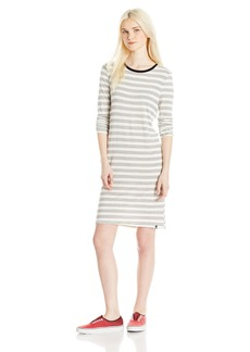 Volcom Junior's Lived in Long Sleeve Tee Dress  L