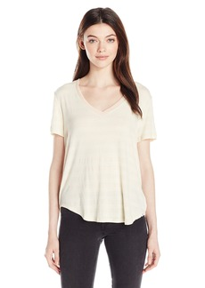 Volcom Junior's Lived in Loose Fitting V-Neck Tee  M