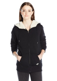 Volcom Junior's Lived in Sherpa Lined Zip up Hoodie  M