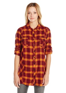 Volcom Juniors Love Me Please flannel Tunic