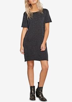 Volcom Juniors' Metallic T-Shirt Sweater Dress