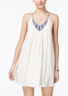 Volcom Juniors' Money Tree Embroidered Crisscross-Strap Dress