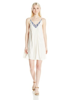 Volcom Junior's Money Tree Strappy Dress with Embroidery  L