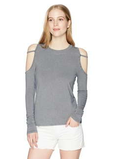 Volcom Junior's Open Arms Long Sleeve Cold Shoulder Top Shirt  XS