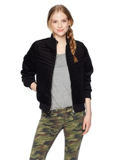 Volcom Junior's Outta My Lane Quilted Bomber Jacket  M