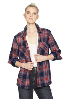 Volcom Junior's Plaid About You Long Sleeve Top  L
