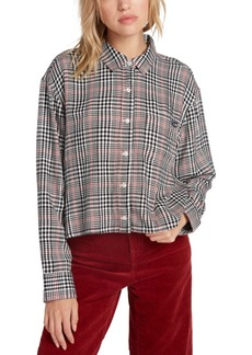 Volcom Juniors' Plaid Button-Up Shirt