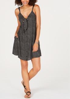 Volcom Juniors' Printed Tie-Front Dress