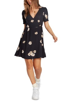 Volcom Juniors' Printed Wrap Dress