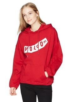 Volcom Junior's Roll It up Oversized Pullover Hoody Sweatshirt  M/L